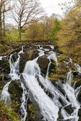 Swallow falls near Betws-y-coed in North Wales, United Kingdom