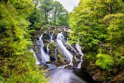 Swallow Falls water fall North Wales