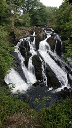 Swallow Falls waterfall in North Wales
