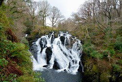 Swallow Falls Waterfall in Snowodnia