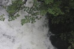 swallow falls waterfall in Wales