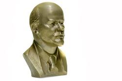 Swap meet. Bust of Vladimir Ilyich Lenin. the leader of the world proletariat, bronze casting