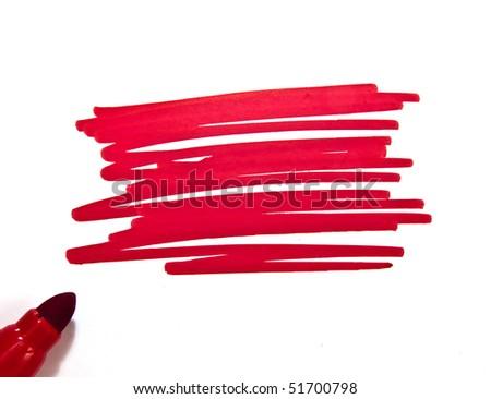 Swash of a highlighter pen - stock photo
