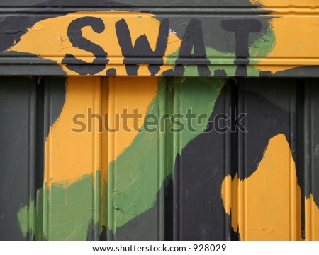 Swat sign in army colors
