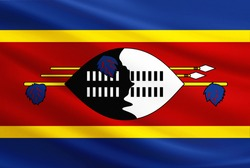 Swaziland flag with fabric texture