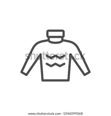 Sweater line icon isolated on white