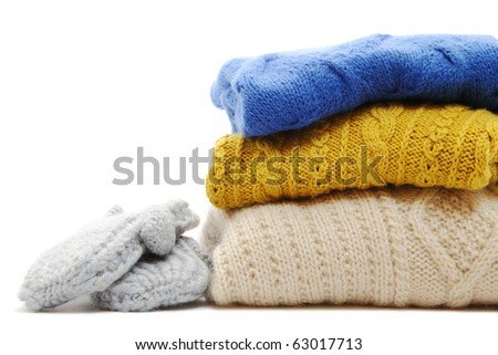 Sweaters and mittens