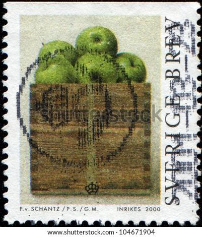 SWEDEN - CIRCA 2000: A stamp printed in Sweden shows Modern Paintings by Philip von Schantz, circa 2000
