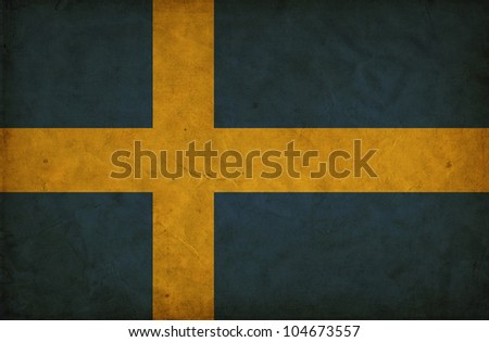 Sweden grunge flag - stock photo