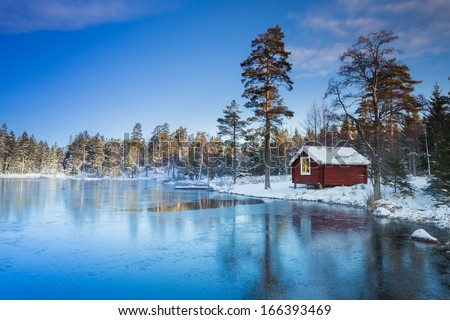 Sweden house winter