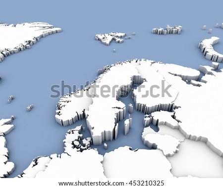 Sweden Map D Illustration Shutterstock - Sweden map 3d