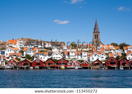 Swedish fishing village Fjällbacka  on the West coast. Bohuslan, Sweden