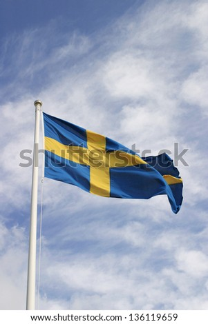 Swedish flag on the national day.