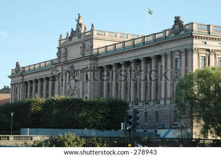 Swedish Parliament Building, Stockholm