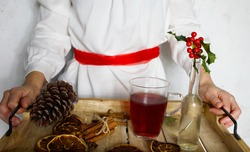 Swedish Sankta Lucia celebration with mulled wine and spices.