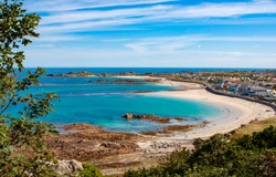 Sweeping Sands of Cobo Guernsey