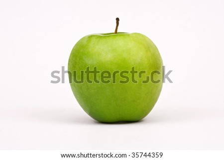Sweet and beautiful green apple