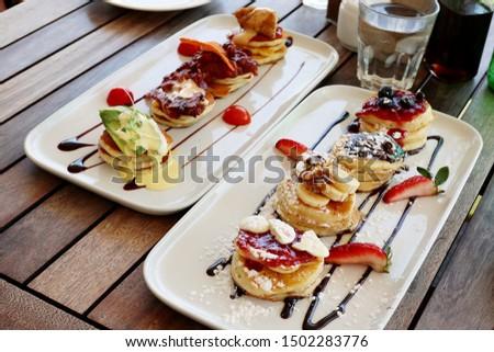Sweet and Savoury Mini Pancake Tapas
