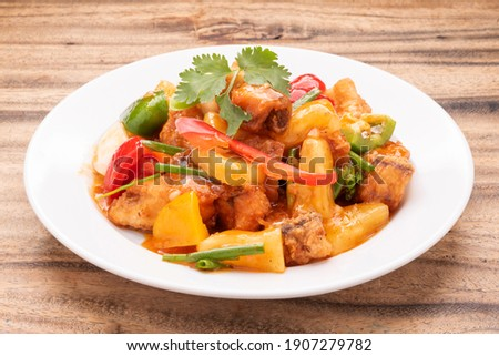 Sweet and Sour Fish, Thai Style Photo stock ©