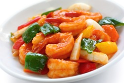 sweet and sour shrimp, chinese food