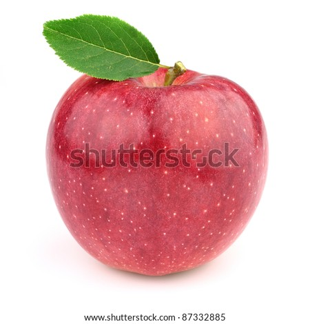 Sweet apple with leaves