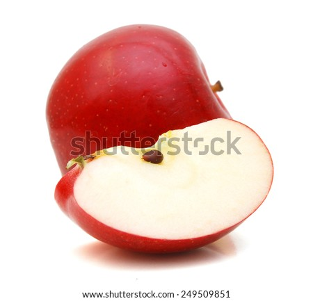 Sweet apple with slice