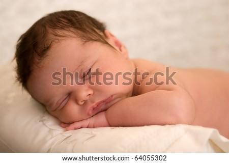 Sweet baby girl having a nap
