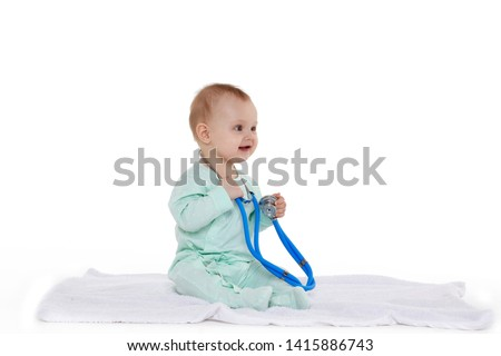 9416224511614 Baby doctor. Infant child medicine. Little kid playing a doctor ...