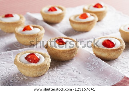 Sweet bakewell pastry treats