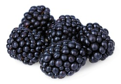 Sweet blackberries isolate on white