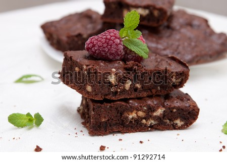 Sweet Brownies - stock photo