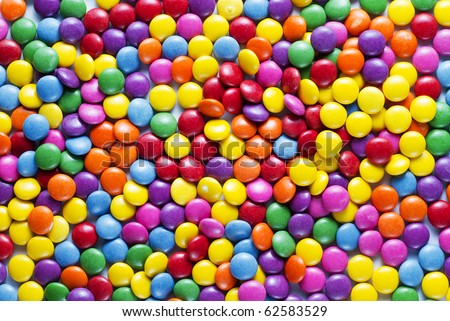 sweet candies spreading pastry decoration background