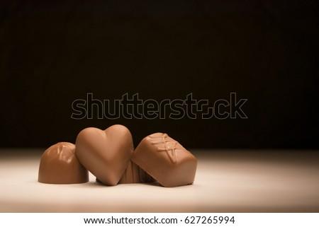 Sweet candy chocolates, delicious luxury dessert  bonbon