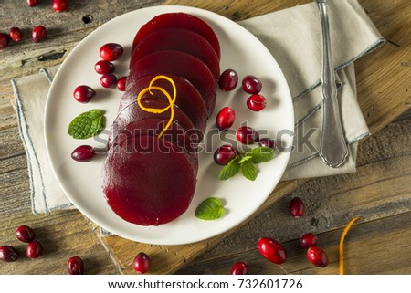 Sweet Canned Cranberry Sauce for Thanksgiving Dinner #732601726