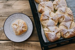 Sweet Cheese Pacels or Pockets. Traditional Hungarian pastry