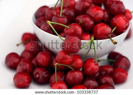 sweet cherries - stock photo