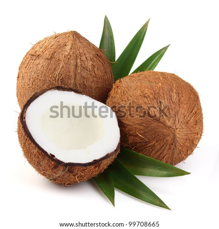 Sweet coconut on a white background
