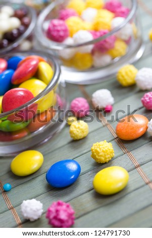 sweet colorful baking decorations