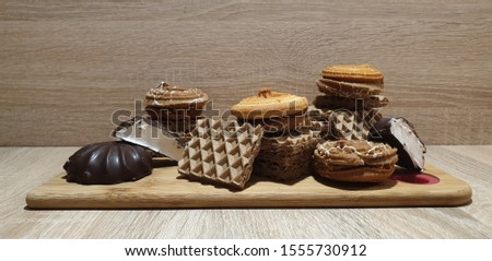 Sweet confectionery. Dessert. Confectionery products. Biscuits.
