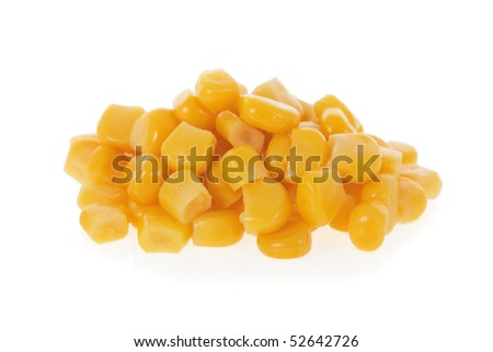 Sweet corn isolated on a white background
