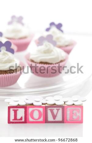 Sweet cupcakes and LOVE blocks