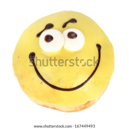 Sweet donut isolated on white