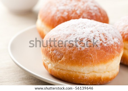sweet donut with sugar