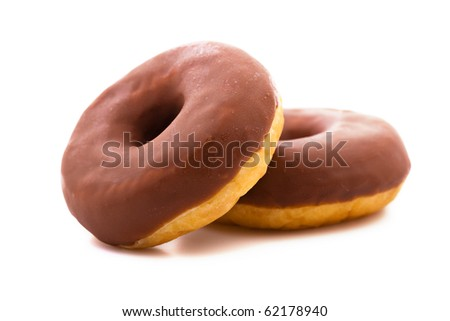 Sweet donuts isolated on white background