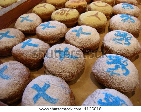 Sweet donuts with Finland flag