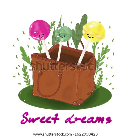 Sweet dreams candy bag valise of sweets