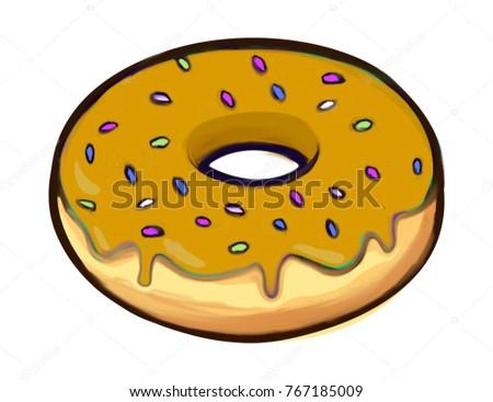 Sweet glaze donut illustration
