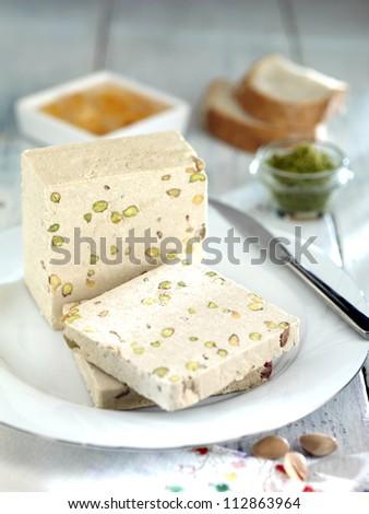 sweet halva with pistachio