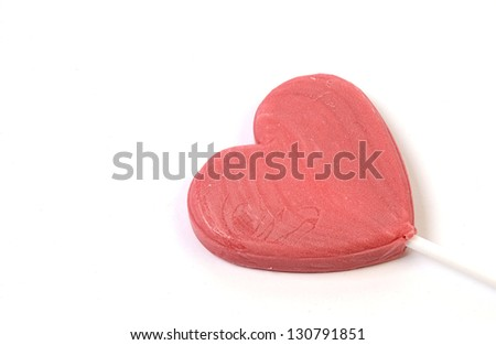 Sweet heart on a white background