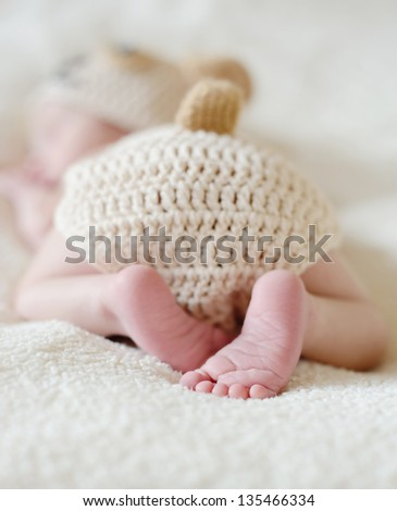 sweet heels of little newborn